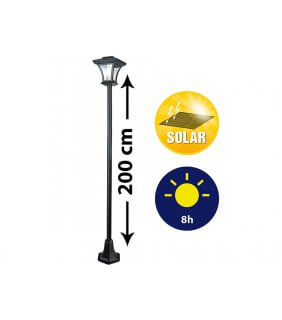 Solar garden light pole 200cm